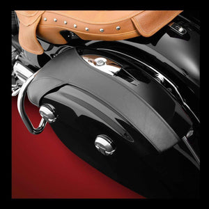 Big Bike Parts Saddlebag Accessory Saddlebag Lid Bra Set by Hopnel V30-203BK