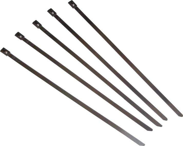 "Stainless Steel Cable Ties 14"" 5/Pk By Helix"