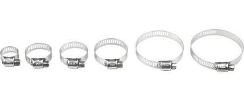 Stainless Steel Hose Clamps 13-32Mm 10/Pk By Helix