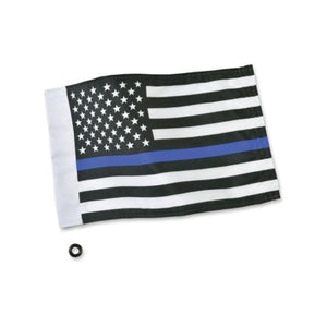 Big Bike Parts Specialty Flag Thin Blue Line Flag by Show Chrome 4-240LE