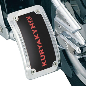 Kuryakyn License Plate Mount Vertical Side Mount Lighted Curved Chrome by Kuryakyn 9251