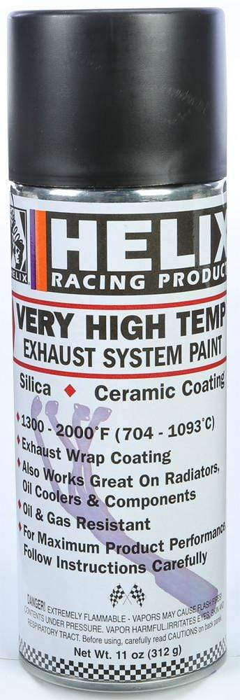 Very High Temp Exhaust System Paint Flat Black 11Oz By Helix
