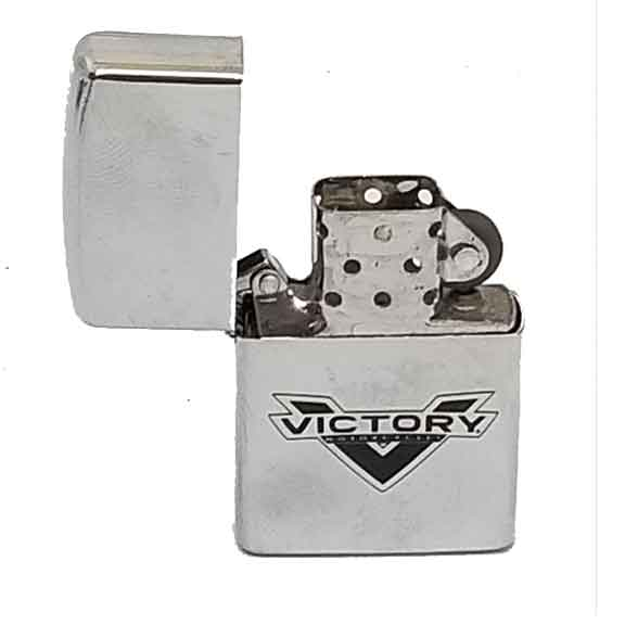 Victory New Logo Zippo Style Silver Lighter by Witchdoctors
