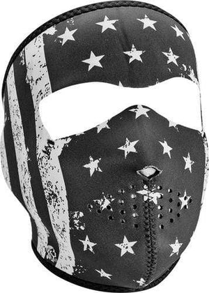 Western Powersports Headwear OS / Black / White Zan Neoprene Full Mask by Zan Headgear WNFM091