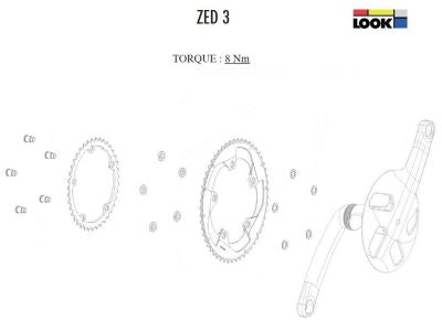 Look Zed 3 Crankset Bolts