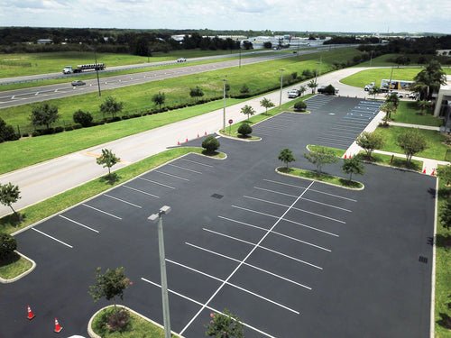 Example parking work by Gardner Asphalt Supply