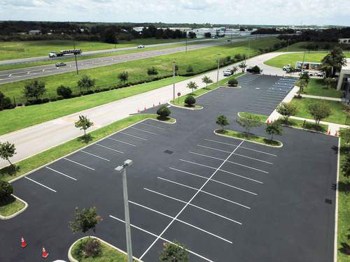 Gardner Asphalt finished parking area