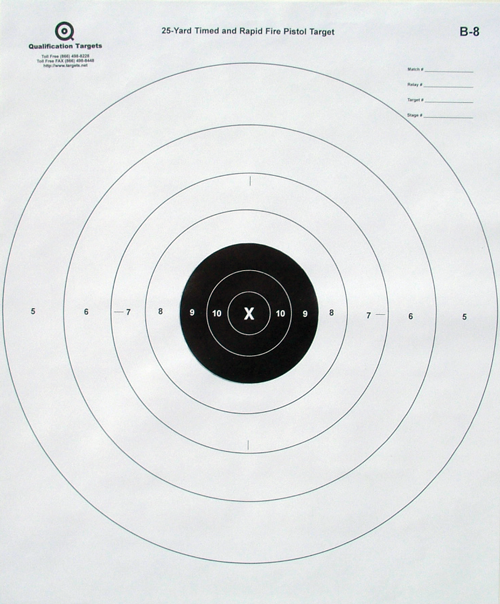 B-8 - Paper Target - Qualification Targets Inc