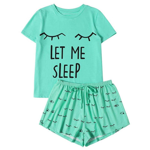 Image of Let Me Sleep Women's Tee and Shorts Pajama Set