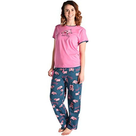 Image of Women's Fitted Pajama Set and Separates Bed Hog