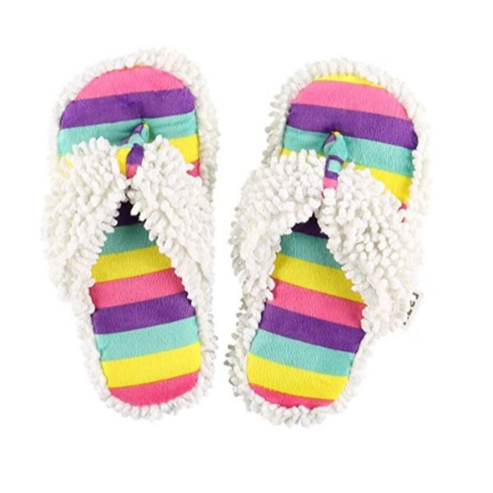 Spa Flip Flop Fuzzy Slippers I Believe Unicorn Spa Slippers