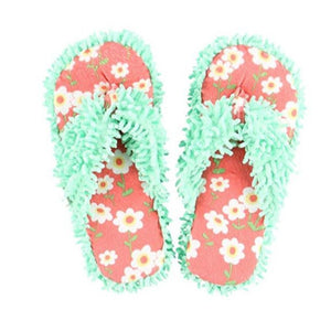 Spa Flip Flop Fuzzy Slippers Rise and Shine Spa Slippers