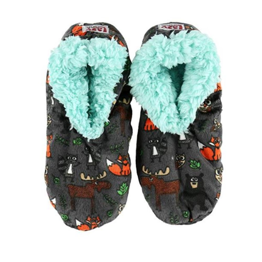 Womens Plush Fuzzy Feet Slippers Born to Be Wild Fuzzy Feet