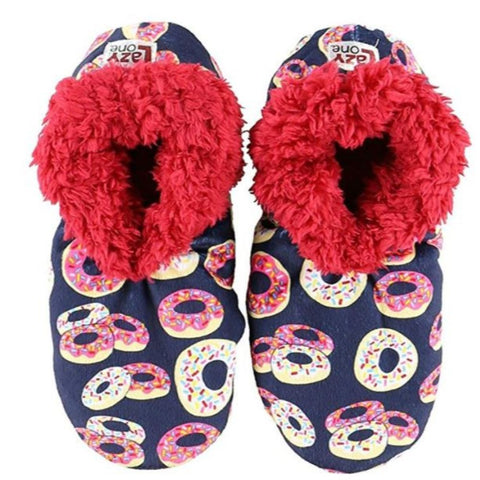 Womens Plush Fuzzy Feet Slippers Donut Disturb Fuzzy Feet