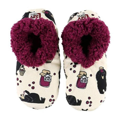 Womens Plush Fuzzy Feet Slippers Huckleberry Fuzzy Feet