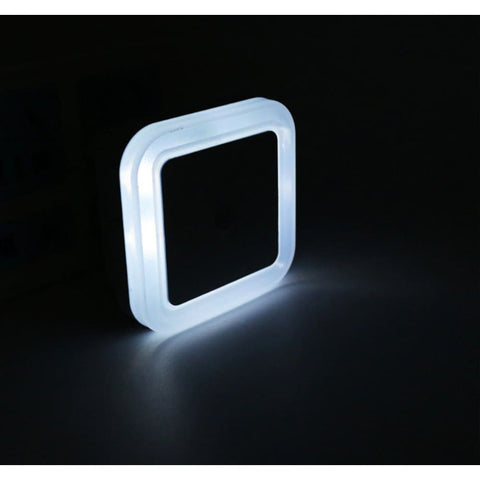 LED Light Sensor Kids Bedside Nite Light - White
