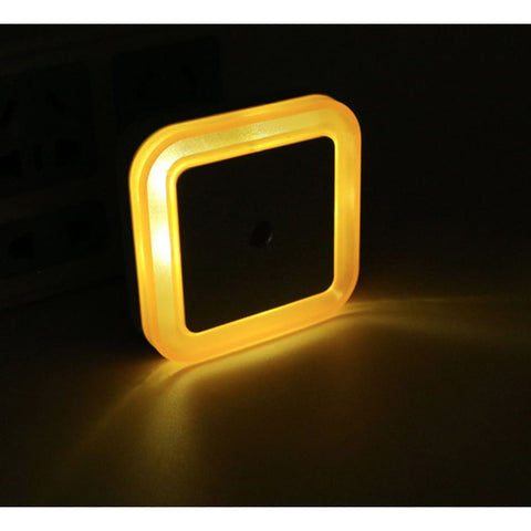 LED Light Sensor Kids Bedside Nite Light - Yellow
