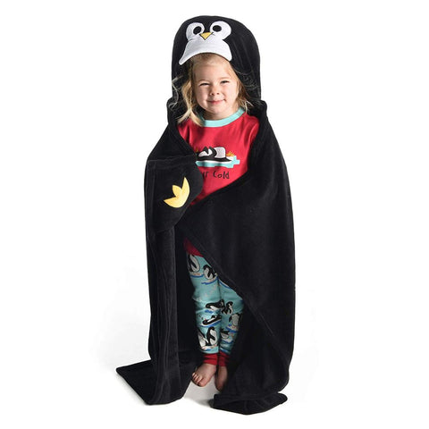 Children's Hooded Animal Critter Blankets