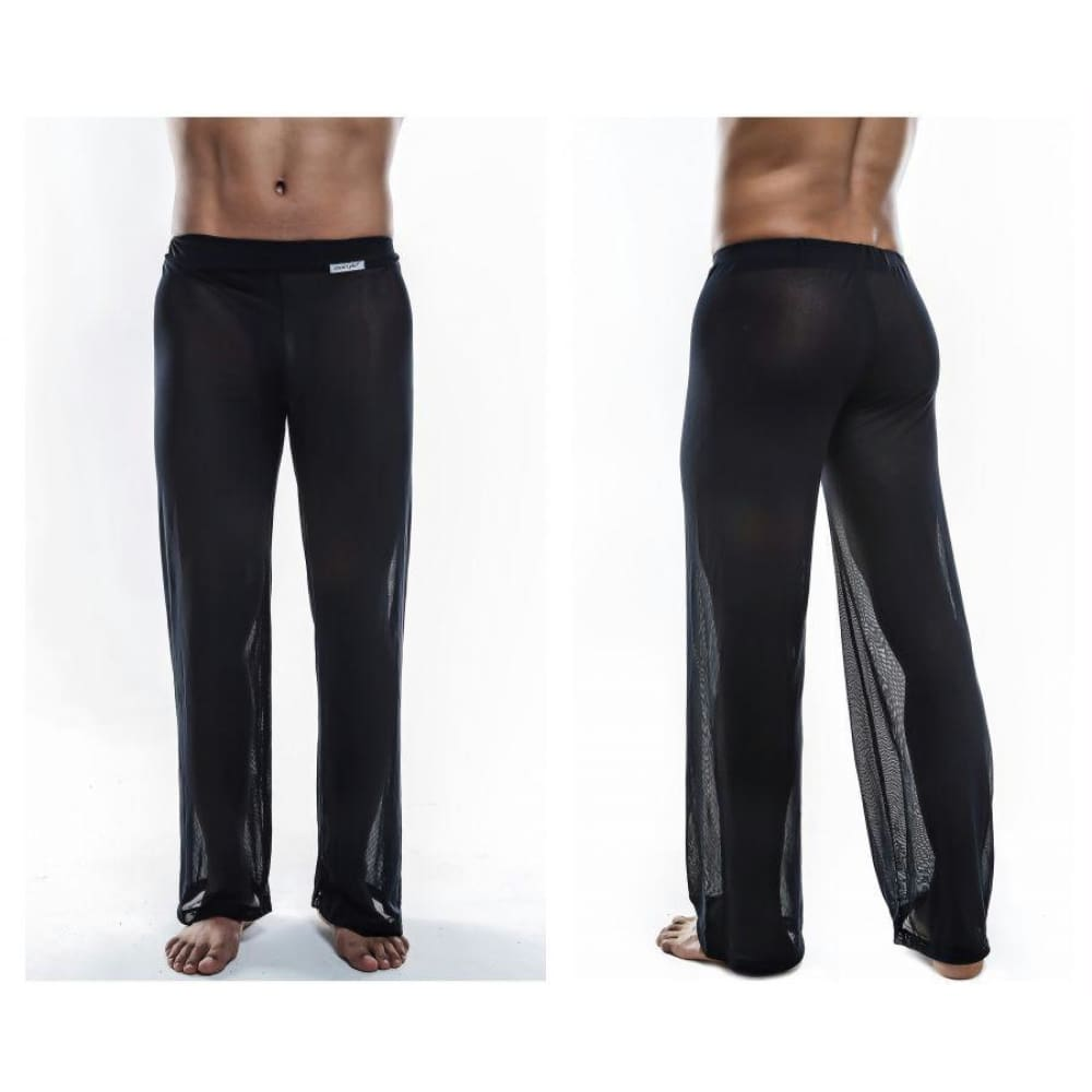 Sheer Lounge Pants - Black Mesh / S - Mens Underwear