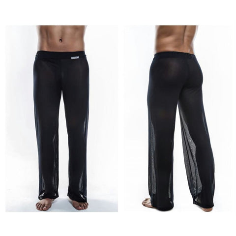 Image of Sheer Lounge Pants - Black Mesh / S - Mens Underwear