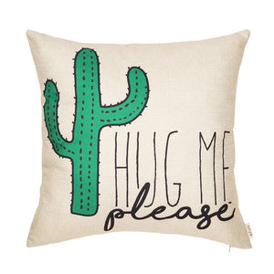 Silly Cactus Pillow Cover