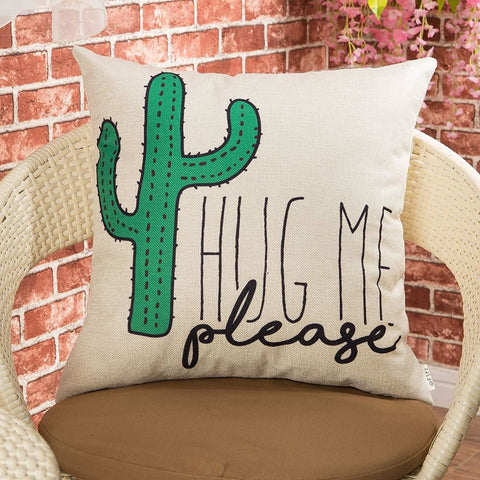 Image of Silly Cactus Pillow Cover