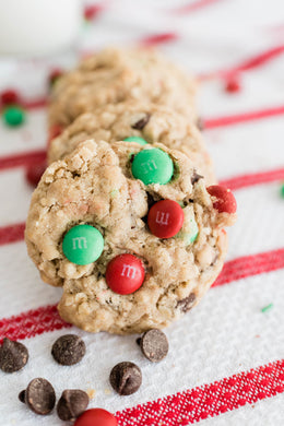 Christmas M&M Cookies - Regular Size