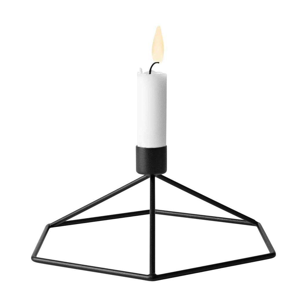 Designer Menu POV Table Candleholder- Black