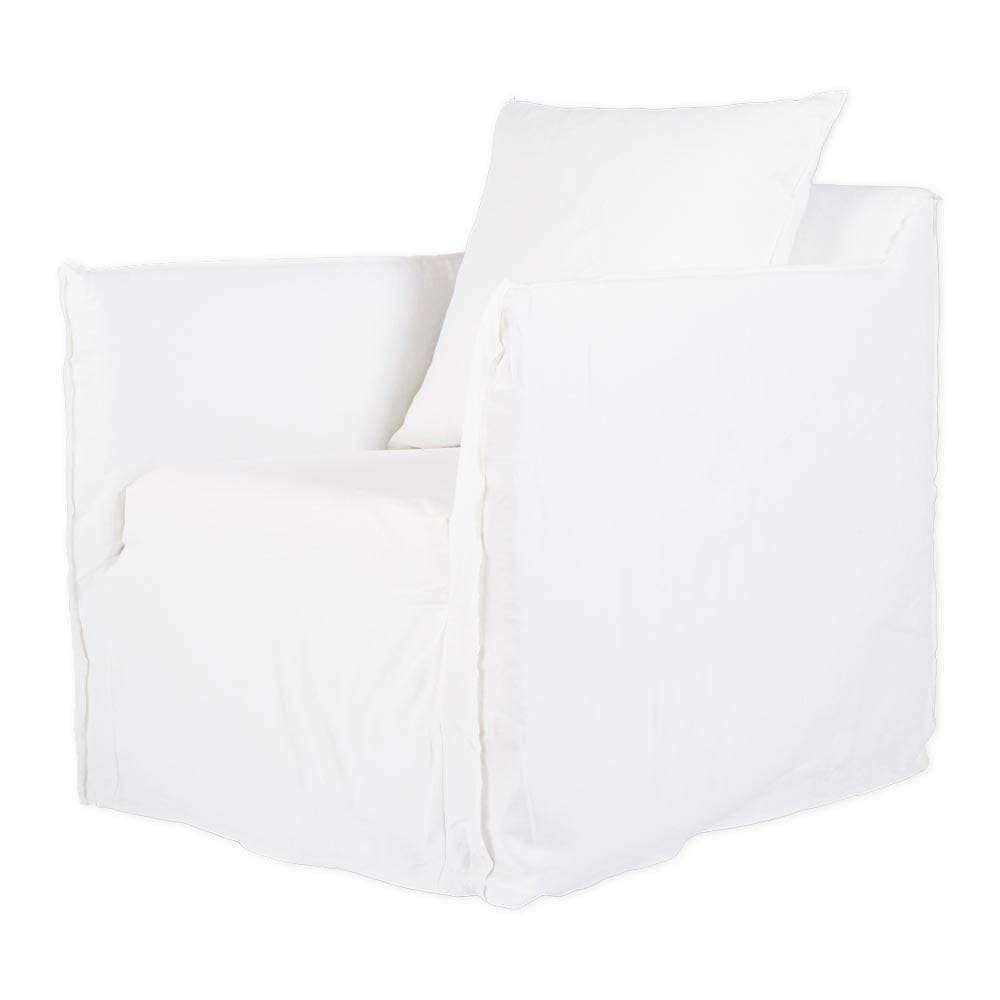 Cover Only - Bronte Armchair - White