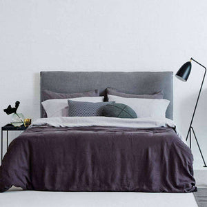 Cover Only - Bronte Bed Head - Ash Grey