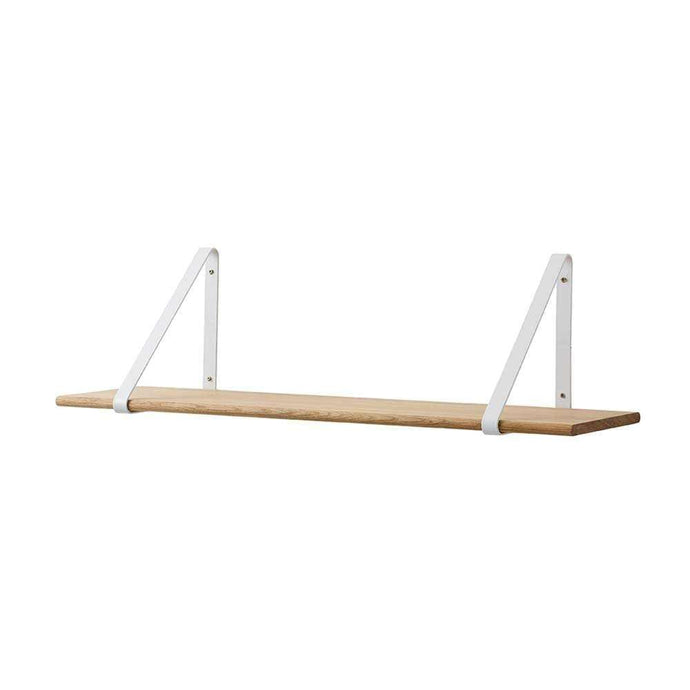 Oak Floating Shelves - White Brackets