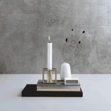 Load image into Gallery viewer, Kubus 1 Candleholder- Brass