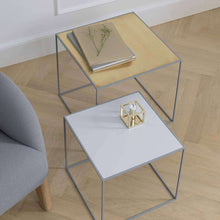 Load image into Gallery viewer, By Lassen Grey Twin 42 Side Table -Brass/Misty Green