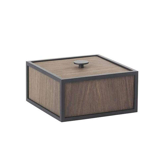 By Lassen Frame Square Storage Box- Smoked Oak