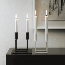Load image into Gallery viewer, Kubus 2 Line Candle Holder - White