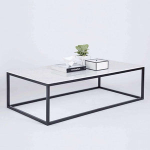Max Italian Marble Coffee Table - Black