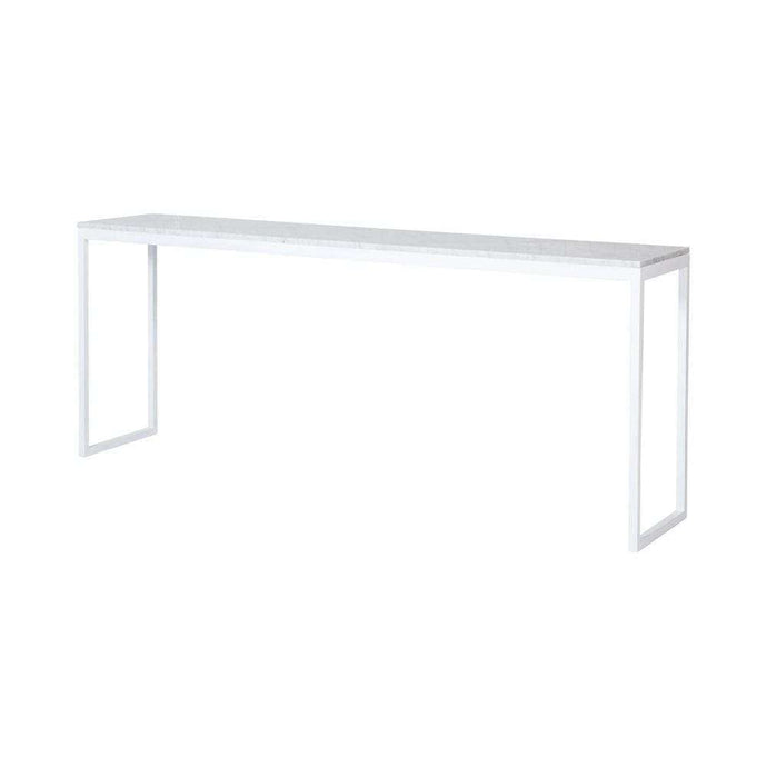 Max Marble Console- White