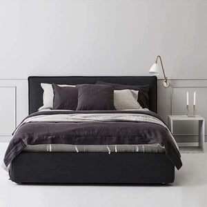 Everything Bed Linen Set - Monochrome Stripes/Black Caviar