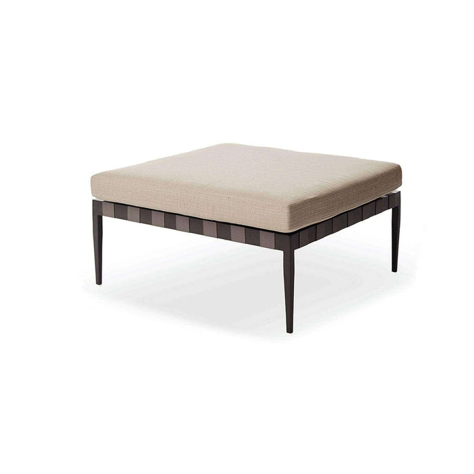 Pier Outdoor Ottoman - Taupe