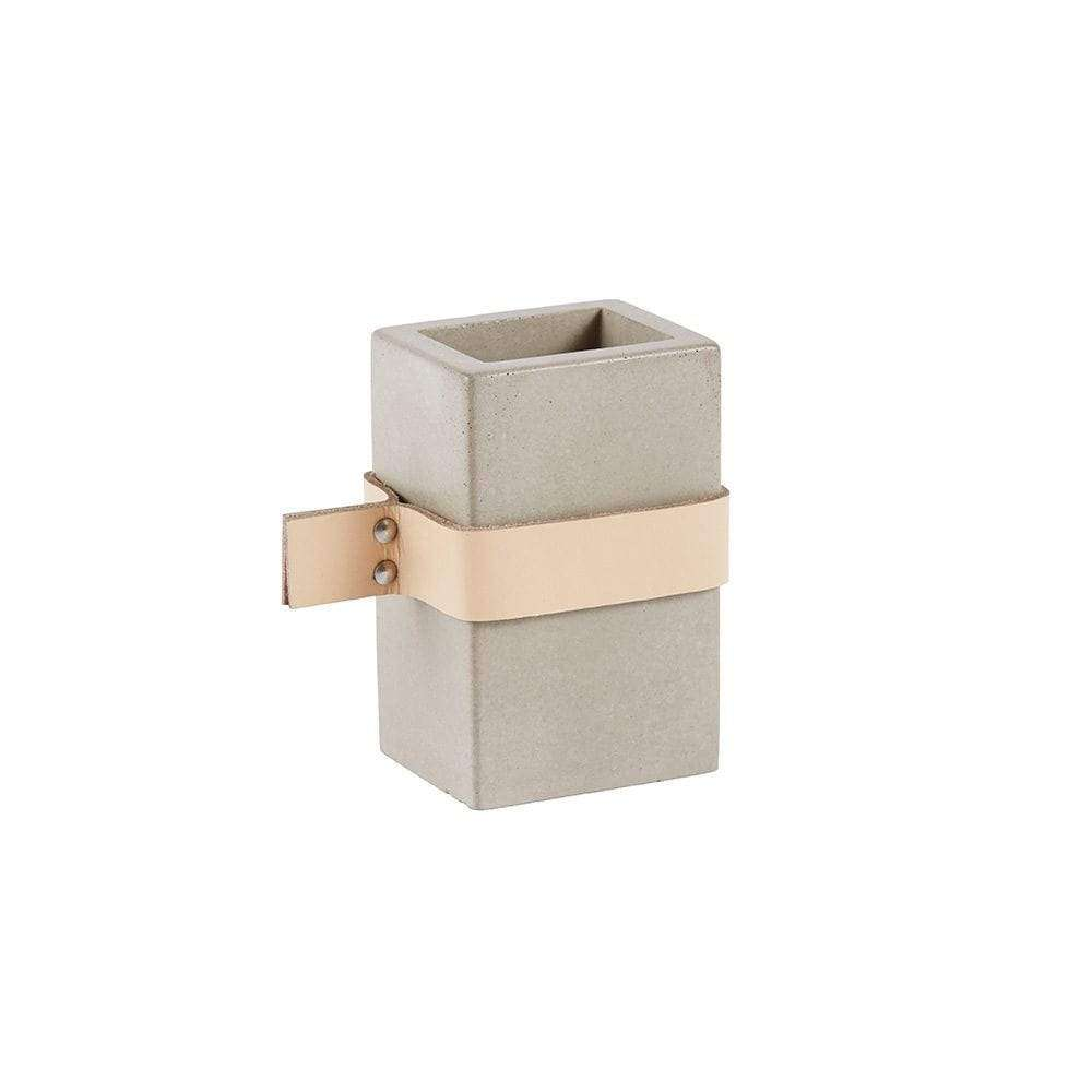 Rectangular Concrete Storage Jar