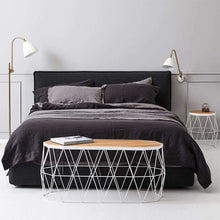 Load image into Gallery viewer, Everything Bed Linen Set - Storm/Black Caviar