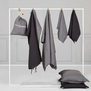 Everything Bed Linen Set - Storm/Black Caviar