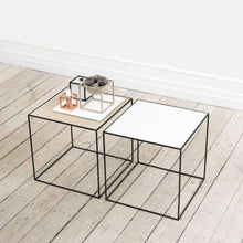 Load image into Gallery viewer, By Lassen Black Twin Side Table - Oak/White