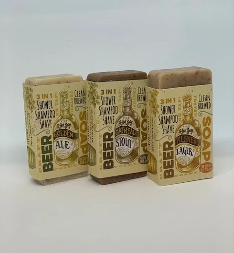 natural soaps fathers day ideas beer soaps pilsner stout and golden ale