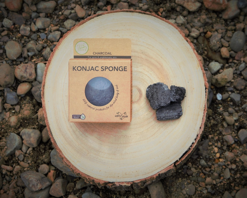 Nudi Point - Activated Charcoal Konjac Facial Sponge