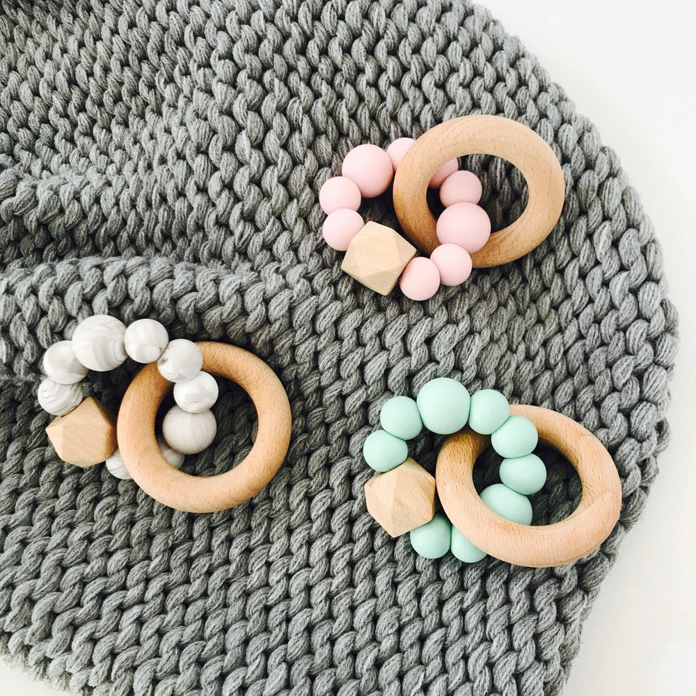 Baby natural wooden teethers