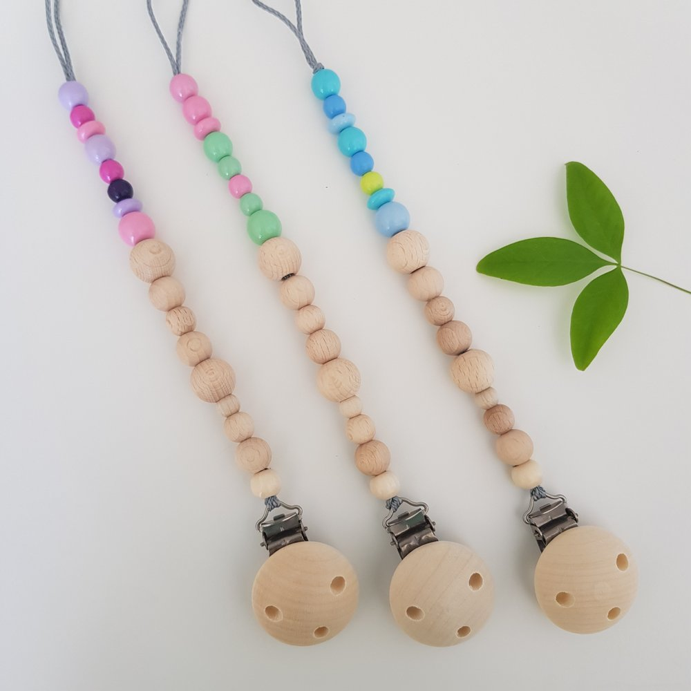 Natural Pacifier Clip/Dummy Chain by Babyworx