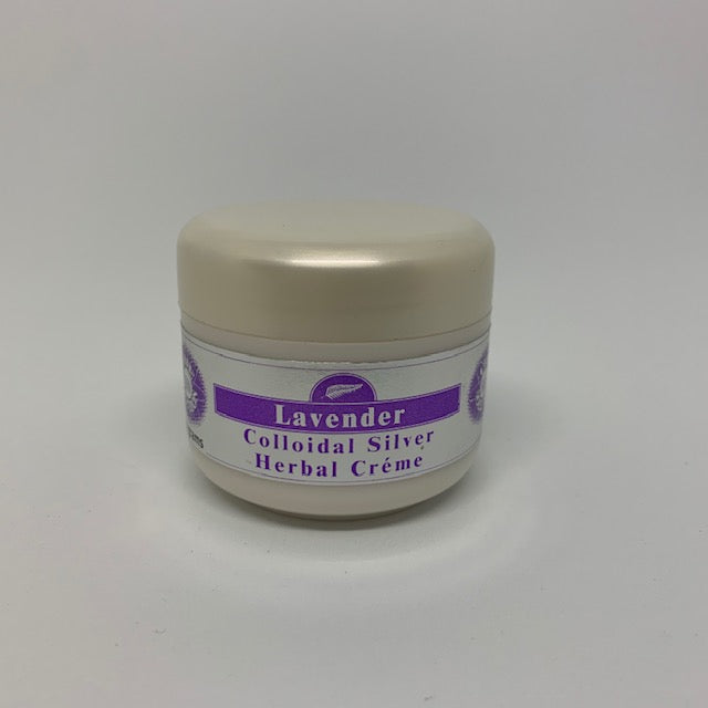 Natural colloidal silver lavender scented herbal cream