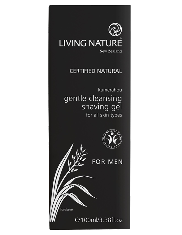 Mens natural shaving gel