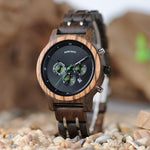 Mens dark brown wooden surround with green hand